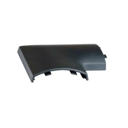 Угол плоский для напольного канала 75х17 мм APSP A, цвет чёрный