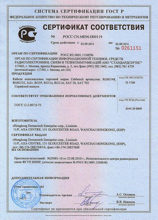 Сертификаты Electronics 2