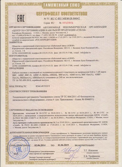 Сертификаты Electronics 4
