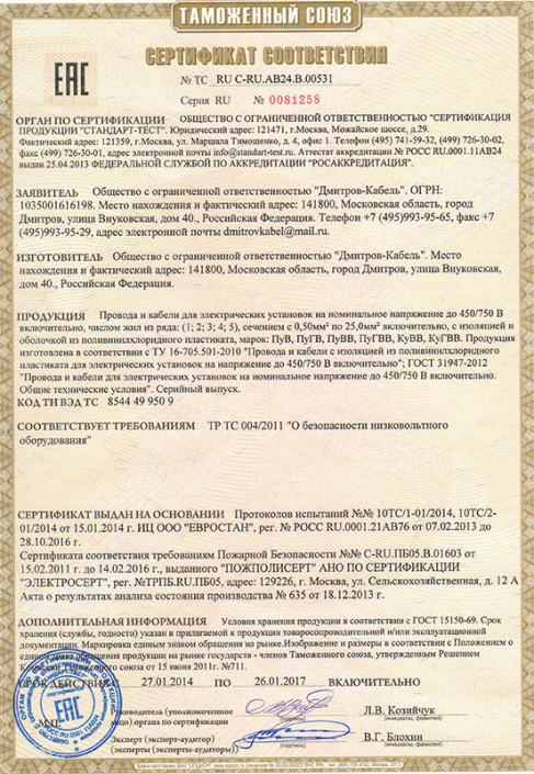 Сертификаты Electronics 6