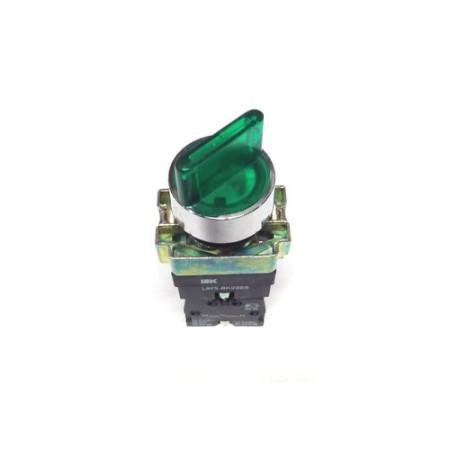 Переключатель LAY5-BK2365 2 положения зеленый ИЭК