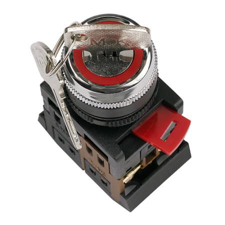 Переключатель АKS-22 черный с ключом 2 положения I-O 1з+1р ИЭК