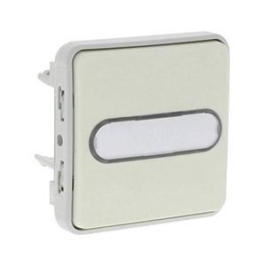 Кнопочный выключатель Н.О. + Н.З. контакты с подсветкой IP55 (белый)