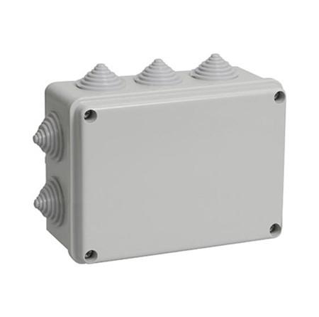 Коробка КМ41261 распаячная для о/п 150х110х85мм IP44 (RAL7035, гладкие стенки)