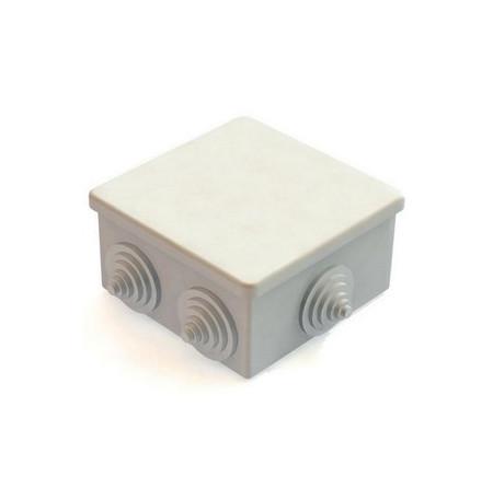 Коробка КМ41234 распаячная для о/п 100х100х50мм IP55 (RAL7035, 6 гермовводов)