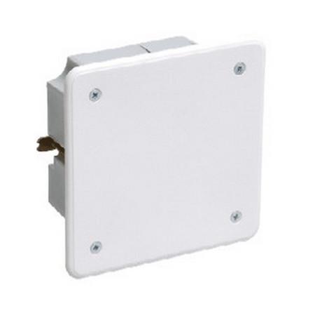 Коробка КМ41021 распаячная 92х92x45мм для полых стен (с саморезами, метал. лапки, с крышкой)