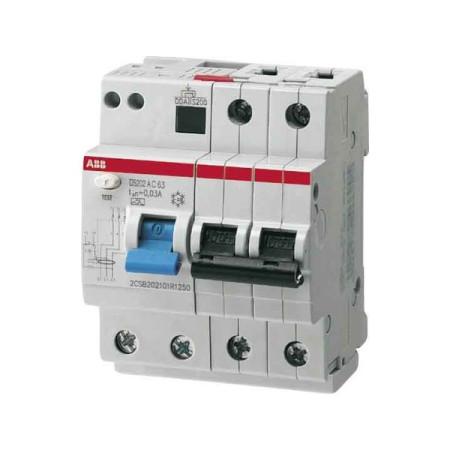 ABB DS202 Дифференциальный автоматический выключатель 4мод. 10А 30mA 6kA(АС) хар.B