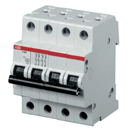 ABB S204 Автоматический выключатель 4P 1.6A (C) 6kA
