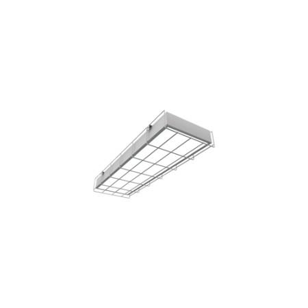 Светодиодный светильник ВАРТОН V1-E0-00067-20A00-2001840 аварийный спортивный накладной 595*200*65 18 ВТ с защитной решеткой чистый белый
