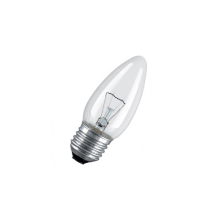 Лампа накаливания свеча 25W E27 прозрачная