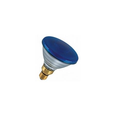 Лампа зеркальная PAR38 FL BLUE 80W E27 синяя