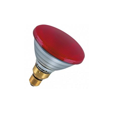 Лампа зеркальная PAR38 FL RED 80W E27 красная