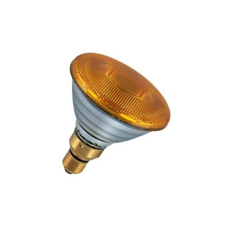 Лампа зеркальная PAR38 FL YELLOW 80W E27 желтая