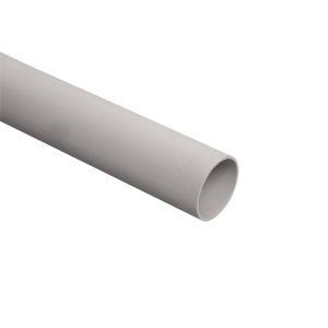 Труба гладкая жесткая т/т ПВХ d50 ИЭК серая (15м), 3м