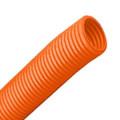 Труба гофрированная ПНД НГ d40мм с протяжкой, оранжевая (15м)